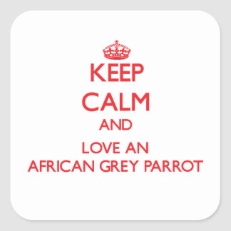 African Grey Parrot Square Sticker
