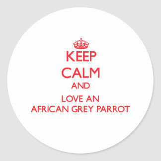 African Grey Parrot Classic Round Sticker