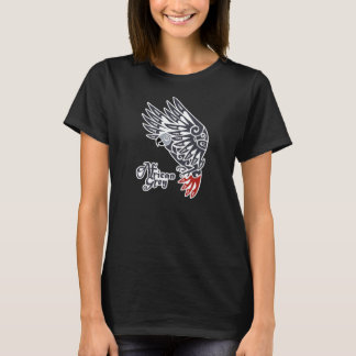 African grey parrot tribal tattoo T-Shirt