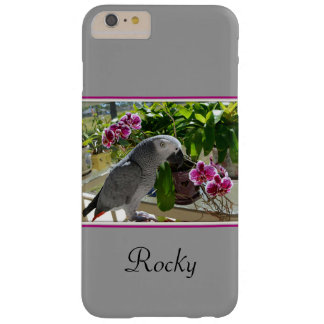 African Grey Parrot with Orchids Barely There iPhone 6 Plus Case