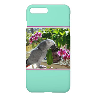 African Grey Parrot with Orchids iPhone 7 Plus Case