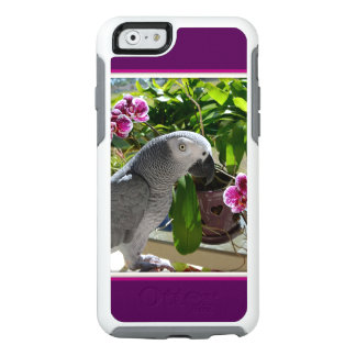 African Grey Parrot with Orchids OtterBox iPhone 6/6s Case