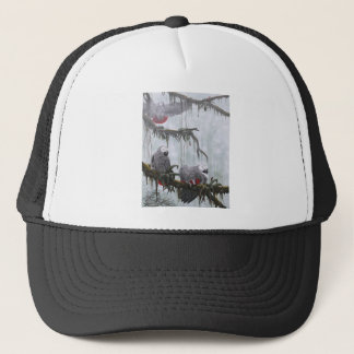 African Grey Parrots flying free Trucker Hat