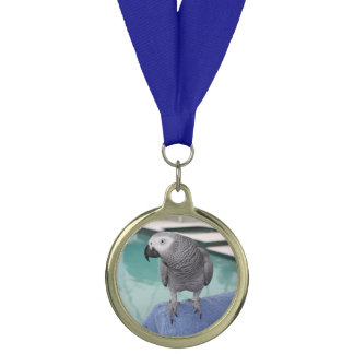 African Grey Pool Party Medal