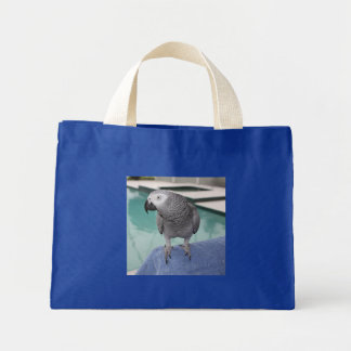 African Grey Pool Party Mini Tote Bag