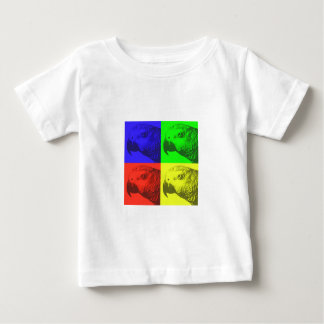 African Grey Pop Art Baby T-Shirt