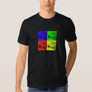 African Grey Pop Art Dark T-Shirt