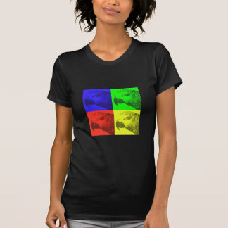 African Grey Pop Art Ladies Dark Teeshirt Tee Shirt