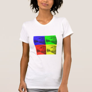 African Grey Pop Art Ladies TShirt