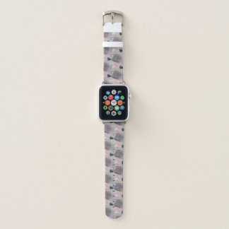 African Grey Puffy Hearts Apple Watch Band