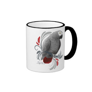 African Grey Ringer Mug