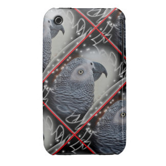 African Grey Snowy Christmas Case-Mate iPhone 3 Cases