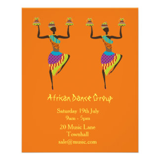 African Group music and dance performance Flyer