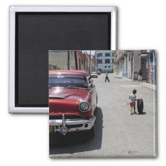 African Hamel district, Havana, Cuba, UNESCO 2 Inch Square Magnet