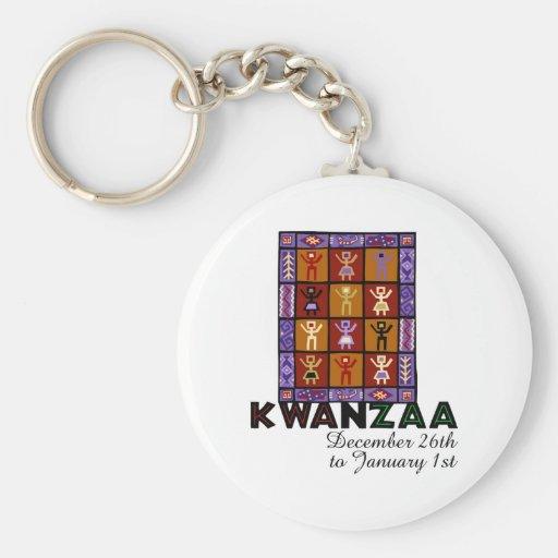 African Heritage Basic Round Button Keychain