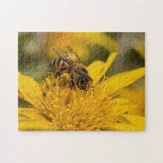 African Honey Bee With Pollen Sacs Feeding Jigsaw Puzzles