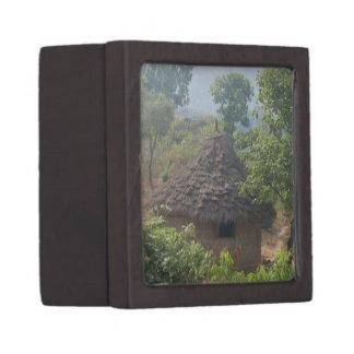 African Hut Brown Gift Box Premium Jewelry Box