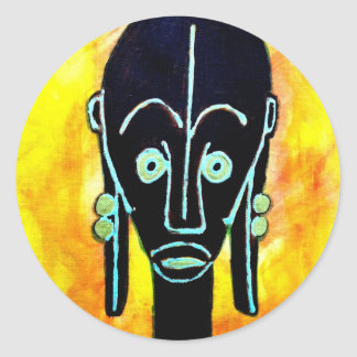 African icon: Fang mask (Gabon) Classic Round Sticker