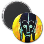 African icon: Fang mask (Gabon) Magnets