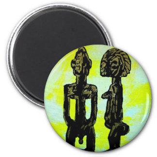 African icon: Ibeji - Twins (Yoruba - West Africa) Fridge Magnet