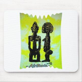 African icon: Ibeji - Twins (Yoruba - West Africa) Mouse Pad