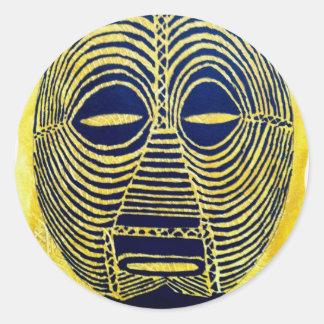 African icon: Luba mask (Congo) Classic Round Sticker