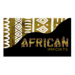 African Imports II - Afrocentric Kenyan mud cloth Business Cards