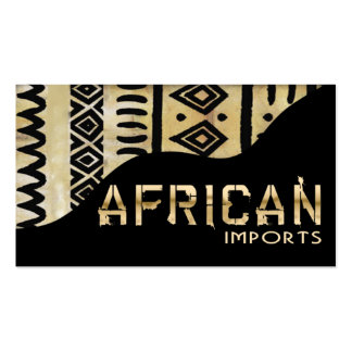 African Imports II - Afrocentric Kenyan mud cloth Double-Sided Standard Business Cards (Pack Of 100)