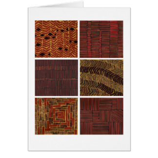 African-inspired brown abstract patterns card