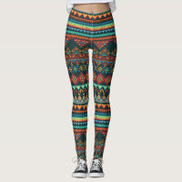 African Inspired Geometric Pattern Leggings
