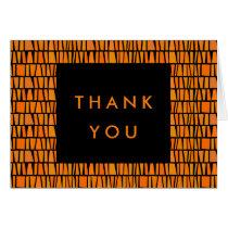 African Inspired Orange Pattern Thank You
