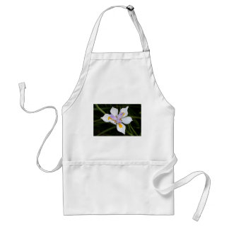African iris flower in bloom adult apron