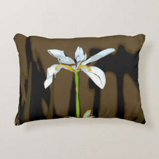 African Iris Fortnight Lily Flower Accent Pillow