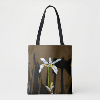 African Iris Fortnight Lily Flower Tote Bag