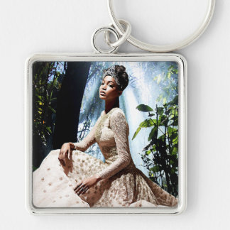 African Jungle Beauty Queen Keychain