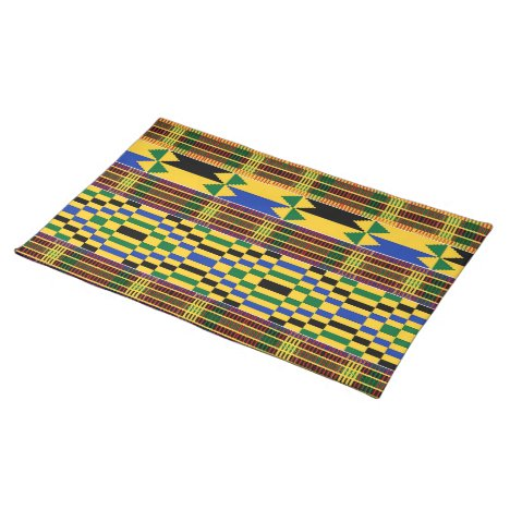 African Kenta Cloth Print Cloth Placemat