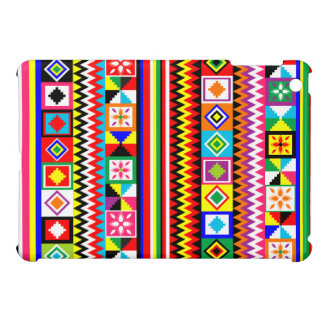 African Kente Cloth Tribal Print Pattern Colorful iPad Mini Cases