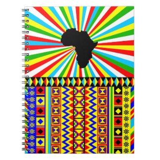 African Kente Cloth Tribal Print Pattern Colorful Notebook