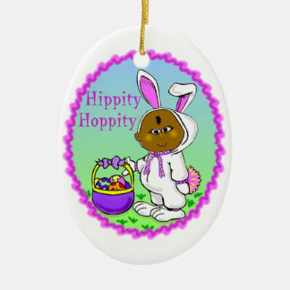 African Kid in Bunny Suit ornament