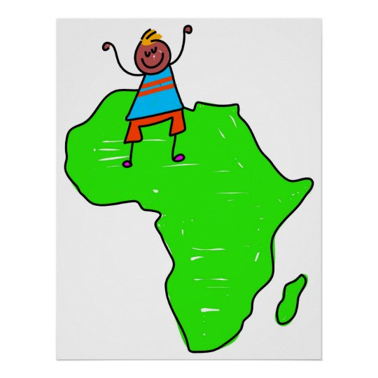 African Kid Poster