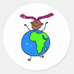 African Kid Sticker