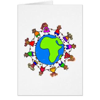 African Kids Greeting Card
