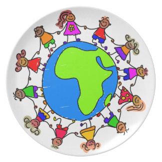 African Kids Melamine Plate