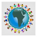 African Kids Poster