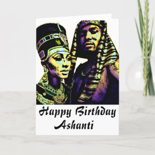 African King Queen Ethnic Culture Birthday Card