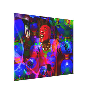 African Knight Gallery Wrapped Canvas