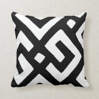 African Kuba Cloth 2 Throw Pillow