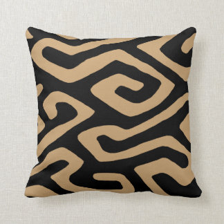 African Kuba Cloth 3 Throw Pillows
