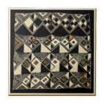 African Kuba Inspired Designs Ceramic Tile