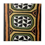 African Kuba Textile Design Ceramic Tile